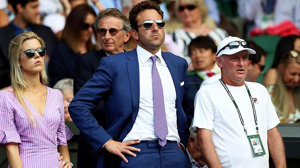 Justin Gimelstob at Wimbledon in 2018. (Photo by Nigel French/PA Images via Getty Images)