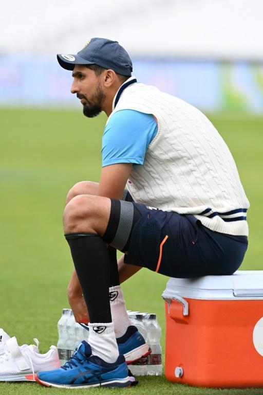 Concern: India's Ishant Sharma during a training session at the Oval on Wednesday ahead of the fourth Test against England (AFP/Glyn KIRK)