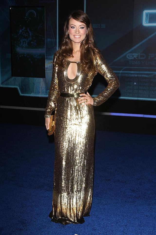 "<a href=""http://movies.yahoo.com/movie/contributor/1808489542"">Olivia Wilde</a> attends the Los Angeles premiere of <a href=""http://movies.yahoo.com/movie/1810096458/info"">TRON: Legacy</a> on December 11, 2010."