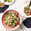 """<p>Avocado and tomato already star in countless other morning meals, even if you're not used to eating salads for breakfast—and finished with beans and quinoa, the result is chock-full of filling fiber. Add an egg if you want to make it more breakfast-y.</p><p><a href=""""https://www.prevention.com/food-nutrition/recipes/a20519981/quinoa-black-bean-and-avocado-salad/"""" rel=""""nofollow noopener"""" target=""""_blank"""" data-ylk=""""slk:Get the recipe from Prevention »"""" class=""""link rapid-noclick-resp""""><strong><em>Get the recipe from Prevention »</em></strong></a></p>"""