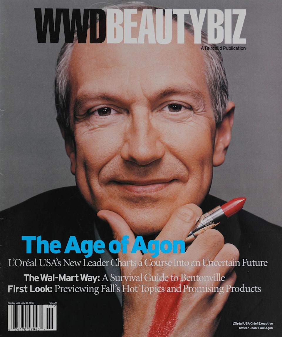 2003: Jean-Paul Agon photographed by Ben Baker