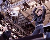 <p>Andrew Ridgeley and George Michael of Wham! perform onstage at <i>The Final Concert,</i> Wembley Stadium, London, June 28, 1986. (Photo: Michael Putland/Getty Images) </p>