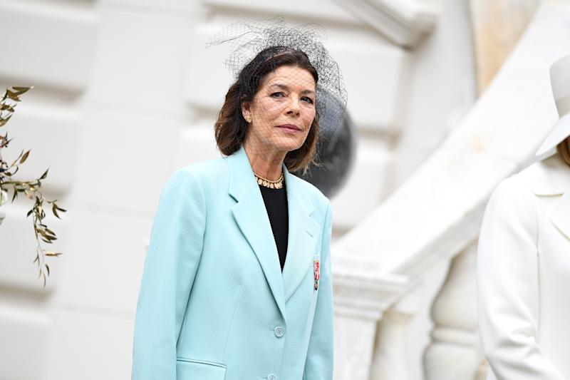 MONTE-CARLO, MONACO - NOVEMBER 19: Princess Caroline of Hanover attends the Monaco National Day Celebrations on November 19, 2019 in Monte-Carlo, Monaco. (Photo by David Niviere/PLS Pool/Getty Images)