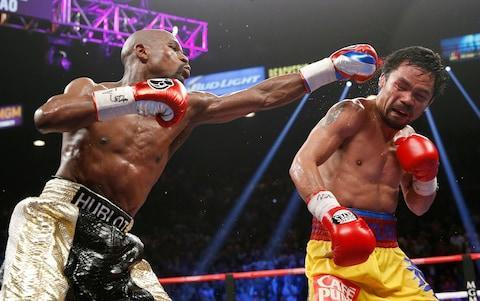 <span>Floyd Mayweather beat Manny Pacquiao on points in the 'Fight of the Century'</span> <span>Credit: AP  </span>