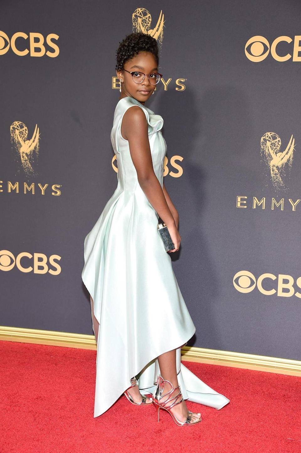 <p>Marsai Martin attends the 69th Primetime Emmy Awards on Sept. 17, 2017.<br> (Photo: Getty Images) </p>