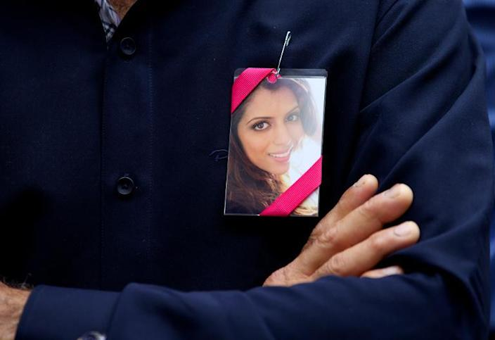 """Anni's family said after the acquittal that they planned to sue Dewani, saying she would never have married him if she had known about """"his secret sex life with male prostitutes"""" (AFP Photo/Andrew Cowie)"""