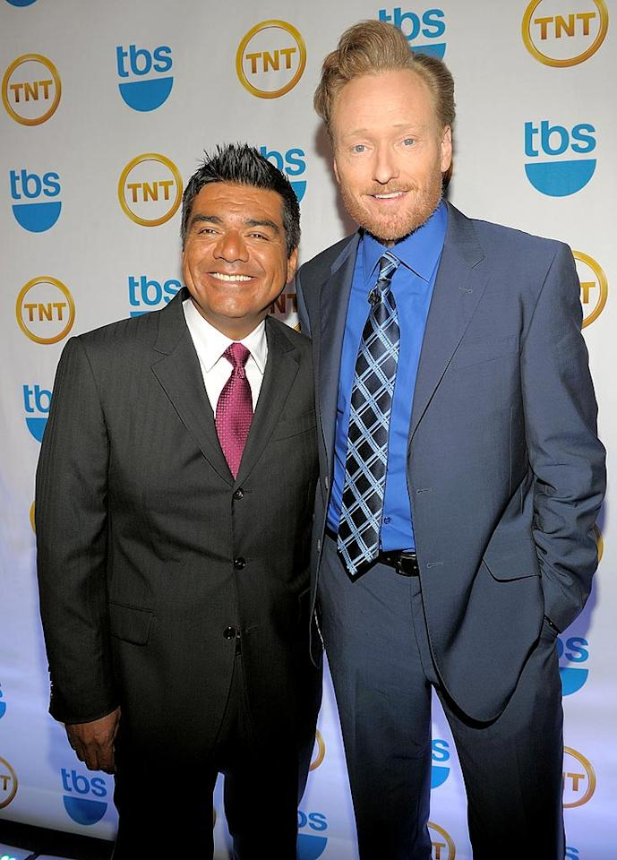 """Koonin also thanked the beleaguered network for giving him the gift of comedian Conan O'Brien, who stood tall next to his late-night stablemate George Lopez on the red carpet. Kevin Mazur/<a href=""""http://www.wireimage.com"""" target=""""new"""">WireImage.com</a> - May 19, 2010"""