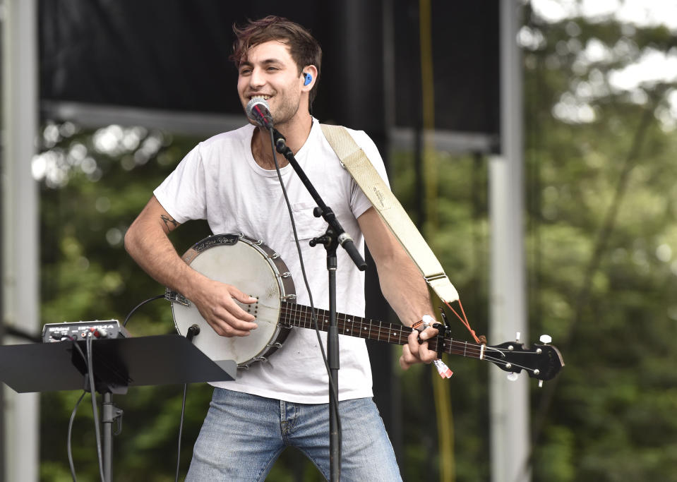NAPA, CALIFORNIA - MAY 24: Adrian Galvin of Yoke Lore performs during BottleRock Napa Valley 2019 at Napa Valley Expo on May 24, 2019 in Napa, California. (Photo by Tim Mosenfelder/Getty Images)