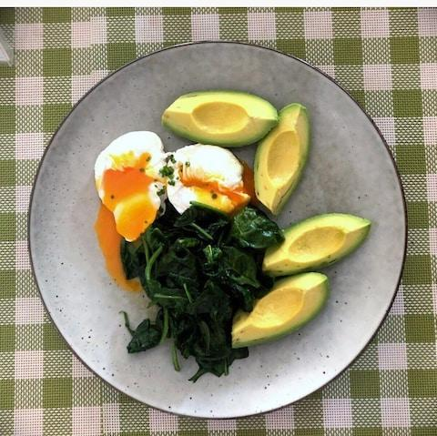 Nigella posted a picture of her breakfast on the platform - Credit: FOODIM