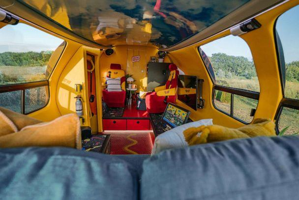 PHOTO: A look at the accommodations in the Oscar Mayer Wienermobile which will be available to book on Airbnb beginning Wednesday July, 24. (Airbnb)