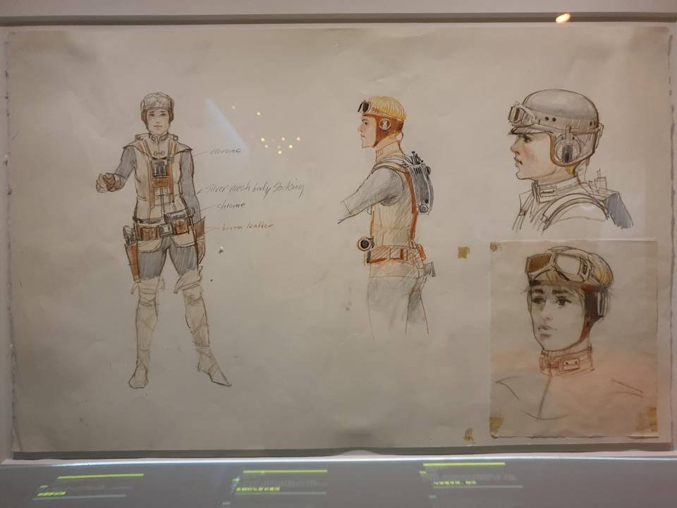 Early concept art of a female version of the character that became Luke Skywalker at the Star Wars Identities exhibition in Singapore at the Artscience Museum. (Photo: Teng Yong Ping)
