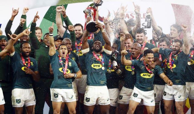 South Africa followed up their 2019 World Cup triumph by toppling the Lions 2-1