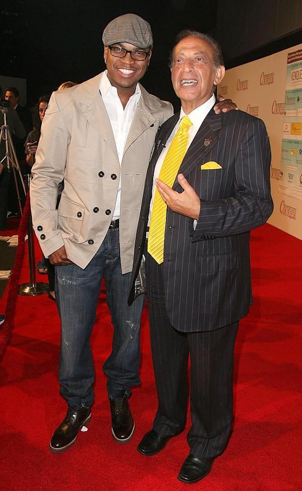 """Ne-Yo, who performed a few of his hits on stage that night, struck a pose with the Mayor of Beverly Hills, Jimmy Delshad. Valerie Macon/<a href=""""http://www.gettyimages.com/"""" target=""""new"""">GettyImages.com</a> - September 2, 2010"""