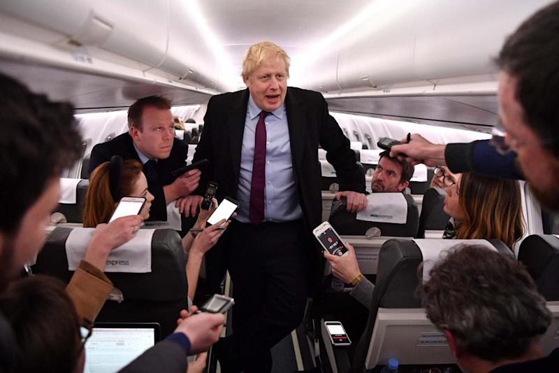 Boris Johnson 's Conservative Party has maintained a commanding lead in the polls: AFP via Getty Images