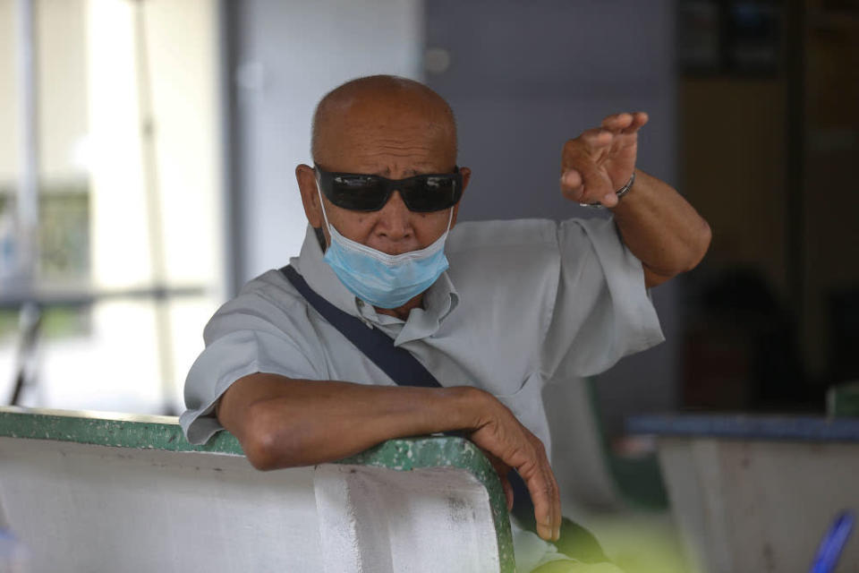 Idris Ismail, 66, speaks to Malay Mail regarding the Penang South Reclamation project that was put on halt at Gertak Sanggul in Penang, September 13, 2021.