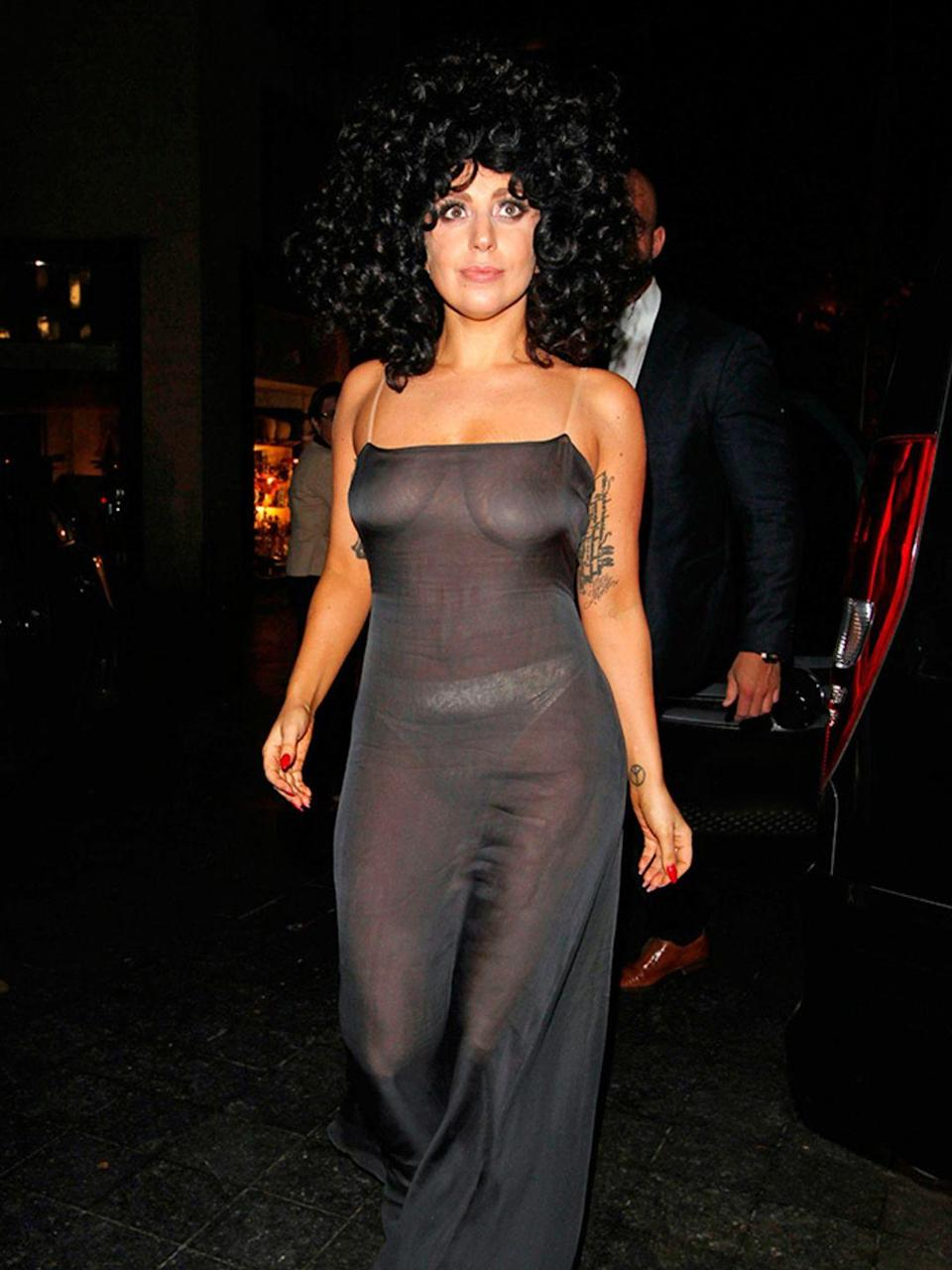 <p>Lady Gaga seen out and about in Brussels.</p>