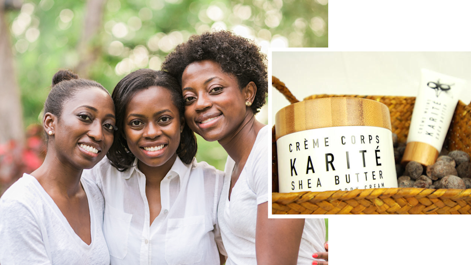 """<p>There's something to be said of sisters who not only get along but also work alongside each other. The trio behind Karité have this all figured out, and their business savvy and stunning complexions are enough to convince anyone to support their shea butter brand. <br>""""The best thing about working together is that we all bring varying experience and skills to the business. Naana is a dermatologist and thus the expert on curating ingredients for our products, Abena is a lawyer who manages our vendor and retail contracts, and I am the marketing and finance go-to. Our individual experiences empower each other to learn about the other's skill set, ultimately to grow personally and professionally with Karité,"""" Abena Slowe tells Yahoo Lifestyle<br><br>Hand Cream and Hydrating Body Cream, $36-$46, <a href=""""https://www.mykarite.com/products/"""" rel=""""nofollow noopener"""" target=""""_blank"""" data-ylk=""""slk:mykarite.com"""" class=""""link rapid-noclick-resp"""">mykarite.com</a>. (Art by Quinn Lemmers for Yahoo Lifestyle) </p>"""
