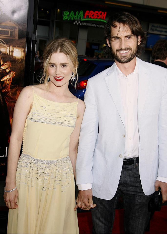 """<a href=""""http://movies.yahoo.com/movie/contributor/1800314643"""">Alison Lohman</a> and her fiance at the Los Angeles premiere of <a href=""""http://movies.yahoo.com/movie/1810029193/info"""">Drag Me to Hell</a> - 05/12/2009"""