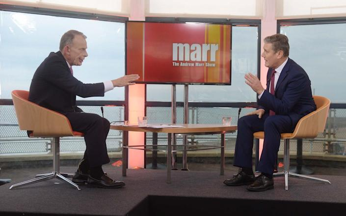 Sir Keir Starmer told Andrew Marr on his BBC show that he would issue 100,000 visas as Prime Minister, instead of the 5,000 announced by the Government - Jeff Overs/BBC
