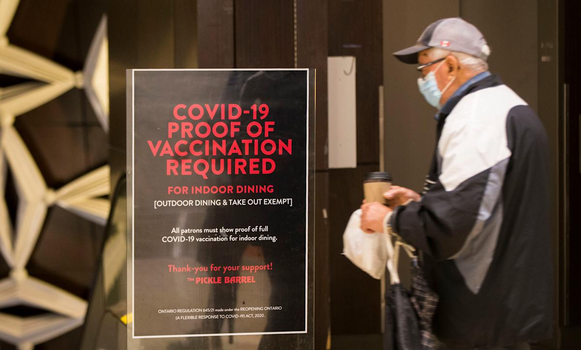 COVID-19 in Ontario: How long will you have to show proof of vaccine? Ontario's top doctor reveals residents must get through 'difficult holiday times' first