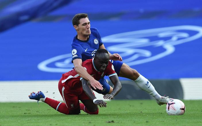 Sadio Mane of Liverpool Brought Down By Chelseas Andreas Christensen for a penalty and gets the red Card - John Powell/Liverpool FC Via Getty Images