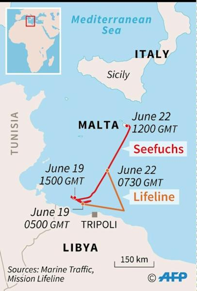 """Hardline Italian interior minister Matteo Salvini blasts NGO migrant rescue ships, saying Italy """"cannot take in one more person."""""""