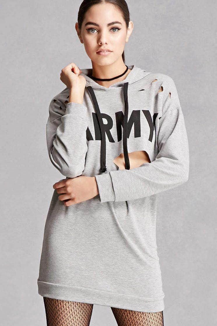 Is this T-shirt dress disrespectful to the military? (Photo: Forever 21)