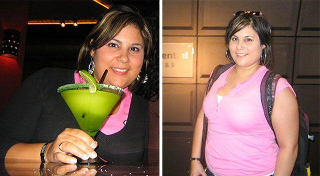 BEFORE: Ten years ago I weighed 90 kilograms and drank most nights of the week. Pictures: Supplied