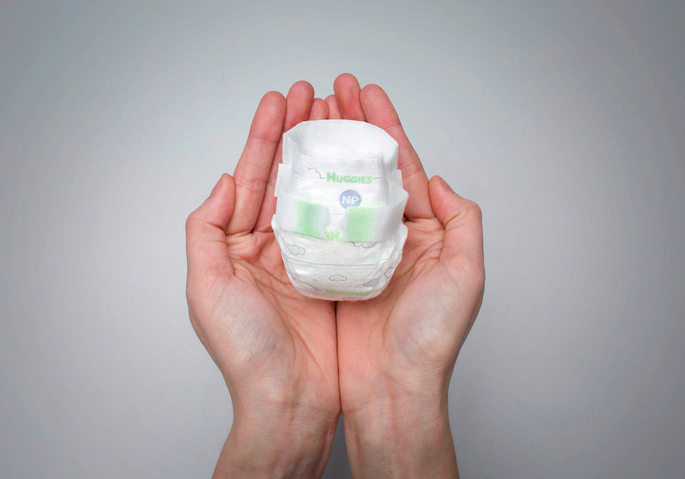 Huggies have introduced a range of super tiny nappies for babies weighing under 2 lbs [Photo: Huggies]