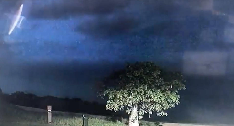 Broome Police spotted the unusual object after reviewing footage of a wild thunderstorm. Source: Twitter/Broome Police