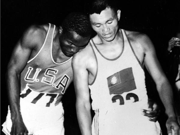 Rafer Johnson, and C.K. Yang during the Olympic Games.