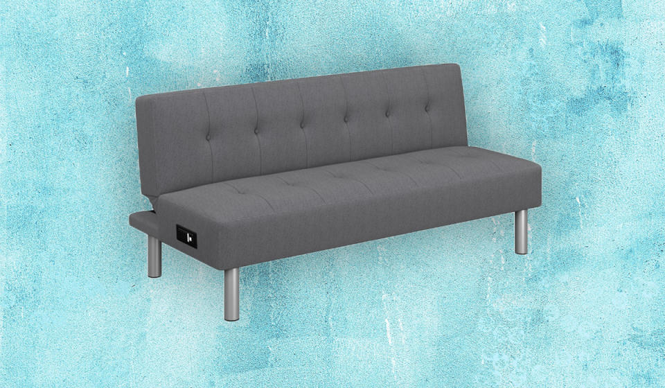 This memory foam futon is perfect for a guest bedroom. (Photo: Walmart)