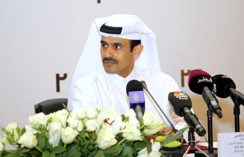 FILE PHOTO: Qatar Petroleum CEO and Minister of State for Energy Saad al-Kaabi speaks during a news conference in Doha