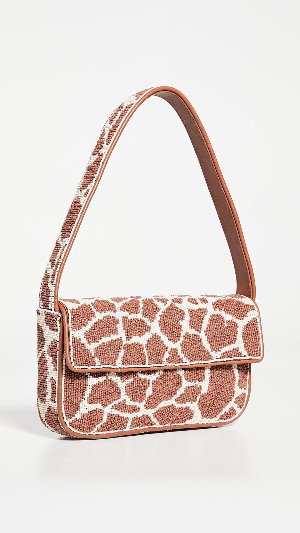 <p>This <span>Staud Tommy Beaded Bag</span> ($250) is such a fun take on animal print.</p>