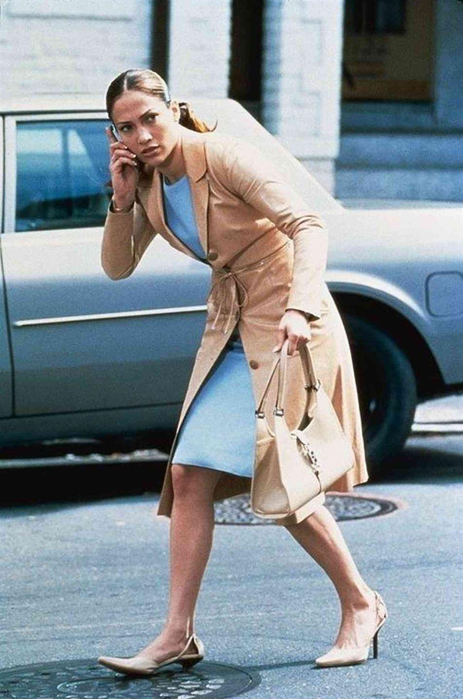 <p>Mary Fiore from <em>The Wedding Planner </em>almost met her fate when her new Gucci shoes got stuck in a manhole. Instead, they kicked off the plot of the entire movie.</p>