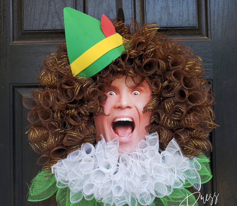 Buddy The Elf Inspired Wreath made by CustomDesignPress on Etsy