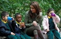 <p>Kate Middleton has mastered the duchess slant, where you join your ankles and slide your legs to the side (though, she isn't doing it here!). This is protocol amongst women in the royal family, but exceptions are made for more casual engagements.</p>