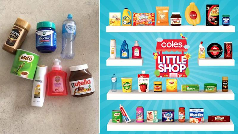 Pictured are miniatures in last year's collection including Milo, Weet-Bix, Tim Tams and Nescafe.