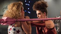 <p> They grunt as their bare skin slaps onto the canvas. The over-excited crowd. The outfits are&#xA0;<em>divine</em>... welcome to the world of GLOW! Another Netflix Original that&#x2019;s ripe for bingeing, you&#x2019;ll dig it whether wrestling is your thing or not. Because, really, it&#x2019;s about the women involved in this true story and how they face the obstacles life has thrown their way. Alison Brie leads the pack as Ruth, an out-of-work actress who&apos;s made some questionable choices, and Marc Maron&#x2019;s drole, chain-smoking producer, who cajoles performances out of the wrestlers in the hopes of making some serious cash. Come for the costumes, stay for the witty repartee. </p> <p> For a show that&#x2019;s based on wrestling, the main heft of what&#x2019;s so enjoyable isn&#x2019;t about the sport at all, but the circumstances of these women. Ruth and Debbie&#x2019;s dynamic in particular is electric. Well, what would you expect with alter-ego names like Zoya the Destroyer and Liberty Belle? </p>