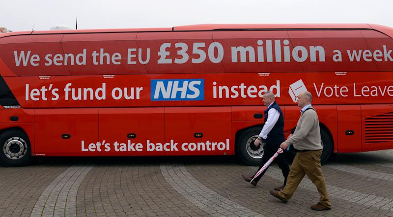 The Vote Leave campaign bus is parked in Truro, Cornwall, ahead of its inaugural journey which will criss-cross the country over the coming weeks to take the Brexit message to all corners of the UK before the June 23 referendum.