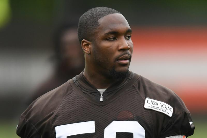 Chris Smith Will Play with the Cleveland Browns on Monday, Nearly 1 Week After Girlfriend's Death