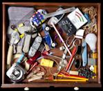 """<p>While keeping a junk drawer doesn't necessarily sound organized, dedicating a single drawer for """"junk"""" will keep you organized in the long run. When you keep daily items like pens, keys, and hand sanitizer in the same place, you'll always be able to find what you're looking for. Keeping a junk drawer also keeps your belongings enclosed, which is much neater than having things lying around.</p>"""