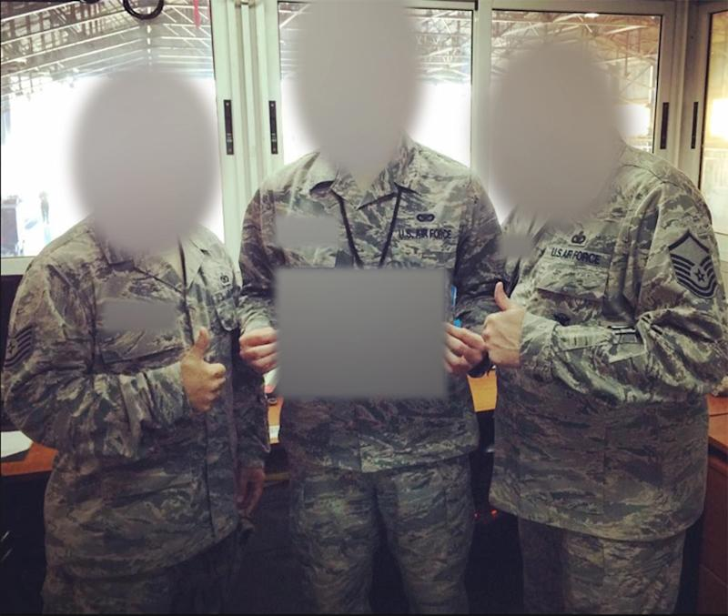 The alleged love scammer posed as a US solider and used this photo, released by Police.