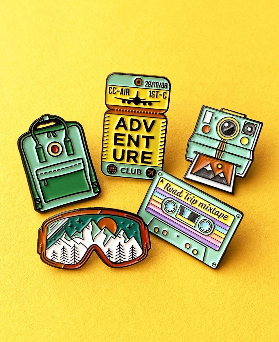 <p>These <span>Wanderlust Pin Collection</span> ($40) would look adorable on your kid's denim jacket.</p>