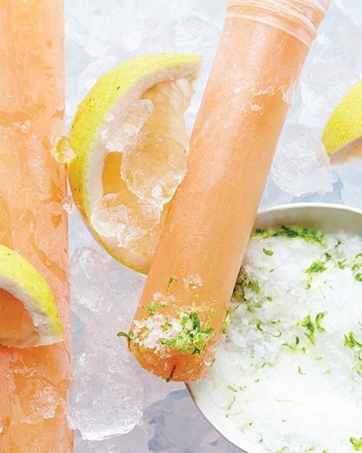 """<p>Tequila lovers, this is the frozen treat for you. Recipe <a href=""""http://www.sweetpaulmag.com/food/grapefruit-amp-tequila-paloma-ice-pops"""">here.</a> <br /></p>"""