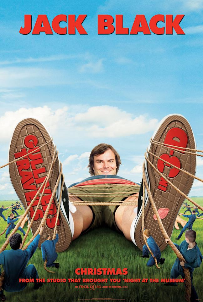 """The Worst:  <a href=""""http://movies.yahoo.com/movie/1810107830/info"""">GULLIVER'S TRAVELS</a>    Any poster that directs this much attention to Jack Black's crotch should be considered a design failure."""