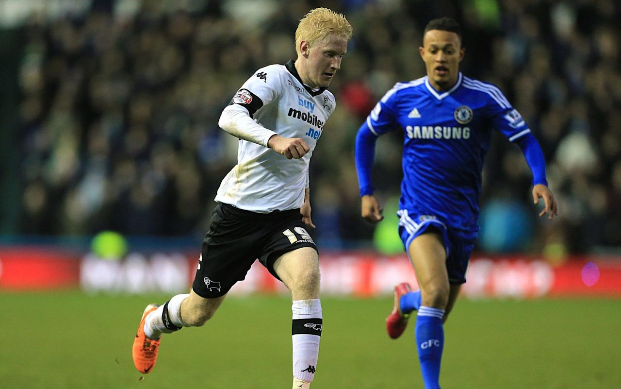 Watford close to sealing £8m deal for Will Hughes of Derby County