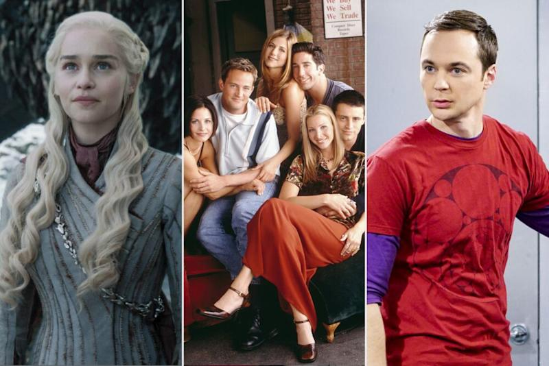 Game of Thrones, Friends and The Big Bang Theory | Courtesy of HBO; Jon Ragel/NBCU Photo Bank; Sonja Flemming/CBS