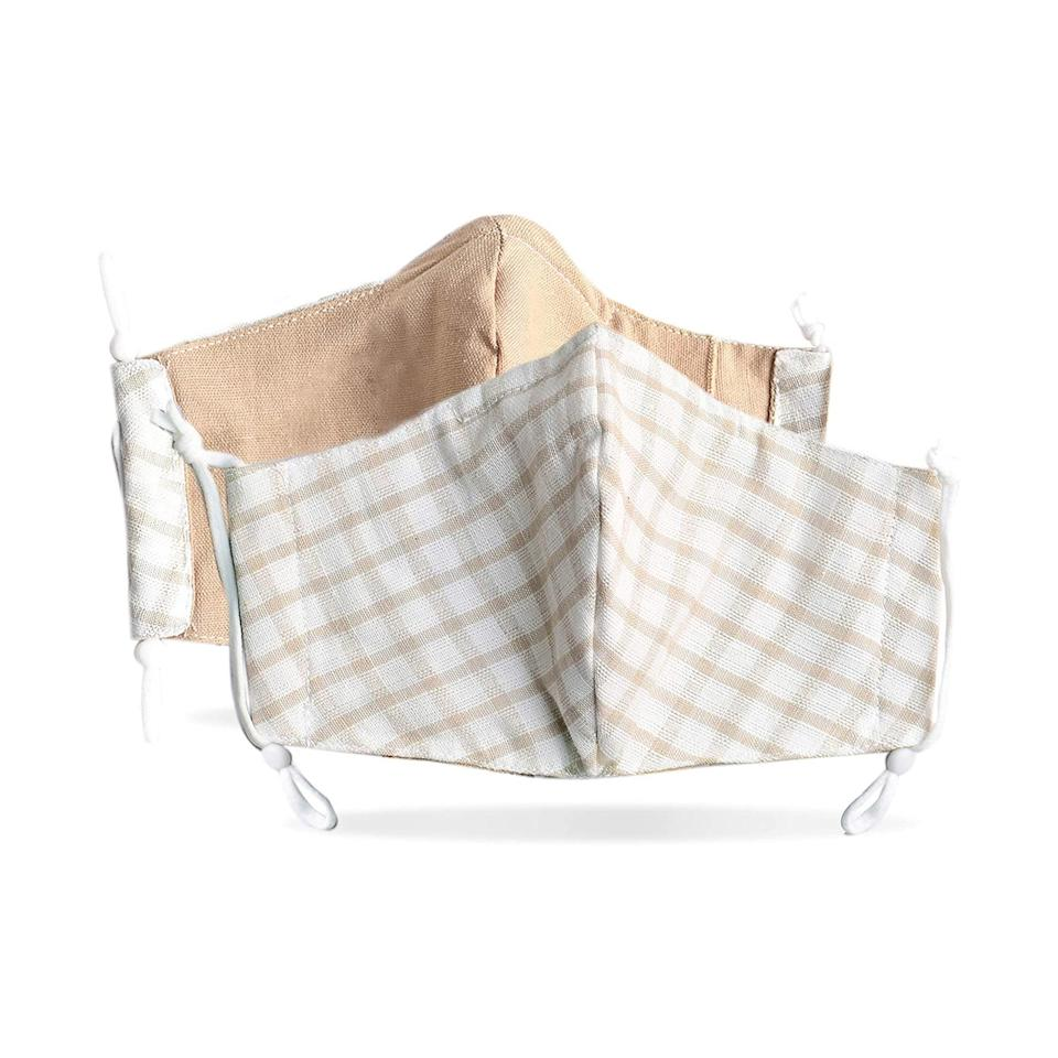 """Made of breathable linen and cotton, reversible, and triple-layered—these masks have a filter pocket, adjustable ear loops, and a nose wire for a secure fit. Not to mention they're available in cute and unique prints, like this checkered design. $16, Amazon. <a href=""""https://www.amazon.com/Triple-Layered-Adjustable-Washable-Reusable/dp/B089N7CQH7/ref=sr_1_1?"""" rel=""""nofollow noopener"""" target=""""_blank"""" data-ylk=""""slk:Get it now!"""" class=""""link rapid-noclick-resp"""">Get it now!</a>"""