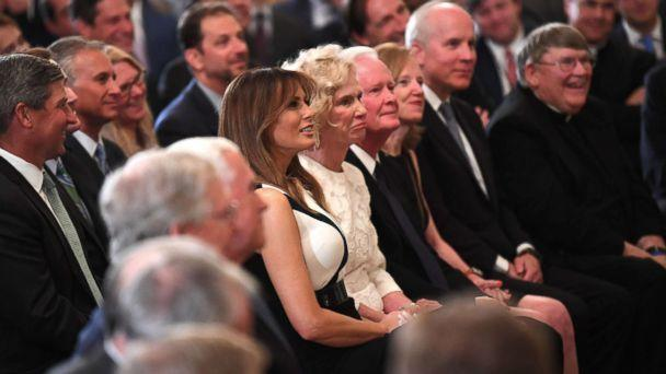 PHOTO: First lady Melania Trump sits next to Martha Kavanaugh, mother of Supreme Court nominee Brett Kavanaugh, during the announcement of his nomination by President Donald Trump at the White House, July 9, 2018. (Jack Gruber/USA Today)